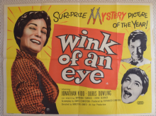 Wink of an Eye, UK Quad Poster, Doris Dowling, Jonathan Kidd, '58